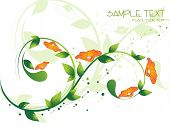 abstract floral effect background with natural filigree pattern poster