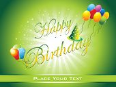 beautiful happy birthday background illustration poster