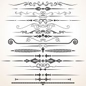 Vector Design Elements. Ornamental Lines to Embellish your Book, Wedding Invitation, Greeting Card or Menu poster