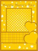creative artwork background for happy nurse's day celebration poster