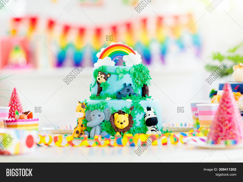 Marvelous Kids Birthday Cake Image Photo Free Trial Bigstock Personalised Birthday Cards Sponlily Jamesorg