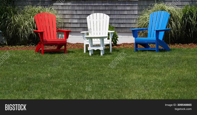 Stupendous Red White Blue Wooden Image Photo Free Trial Bigstock Short Links Chair Design For Home Short Linksinfo