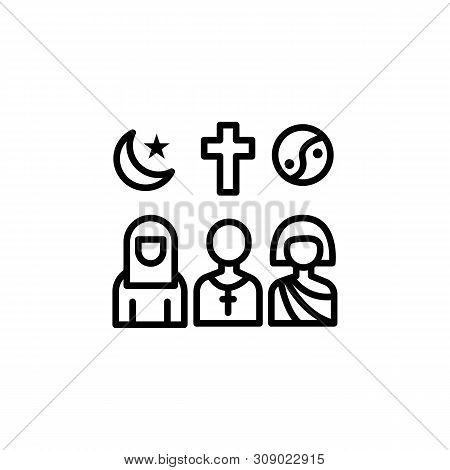 Migration Religions Outline Icon. Element Of Migration Illustration Icon. Signs, Symbols Can Be Used