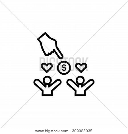 Search Migration Hand Outline Icon. Element Of Migration Illustration Icon. Signs, Symbols Can Be Us