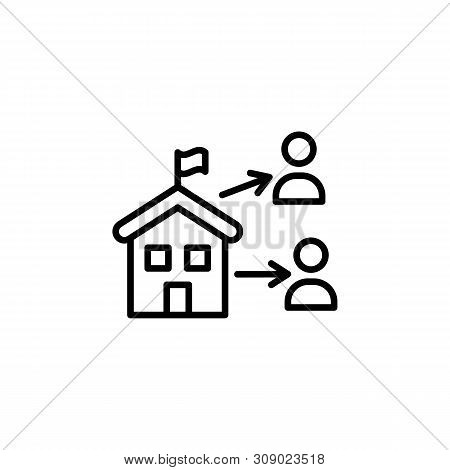 Diaspora Migration Outline Icon. Element Of Migration Illustration Icon. Signs, Symbols Can Be Used