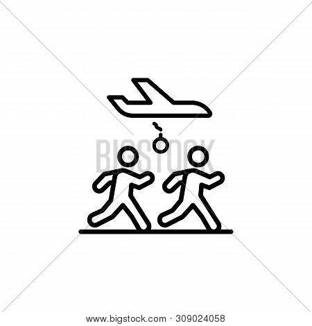 Running Migration Outline Icon. Element Of Migration Illustration Icon. Signs, Symbols Can Be Used F