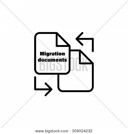 File Migration Document Outline Icon. Element Of Migration Illustration Icon. Signs, Symbols Can Be
