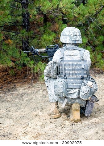 Us Soldier In Action