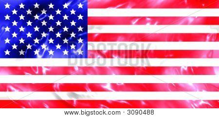 Water Usa Flag