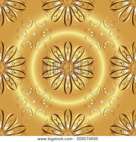 Ultrafashionable Fabric Pattern. Abstract Motif Background. Vector Illustration. Seamless Pattern.