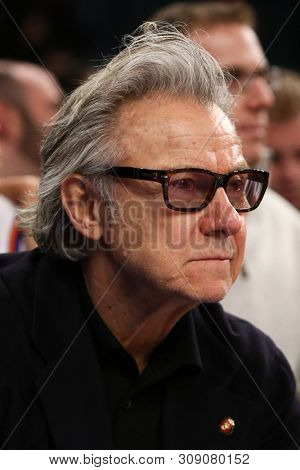 NEW YORK - FEB 10: Actor Harvey Keitel attends the game between the New York Knicks and the Los Angeles Clippers at Madison Square Garden on February 10, 2013 in New York City.