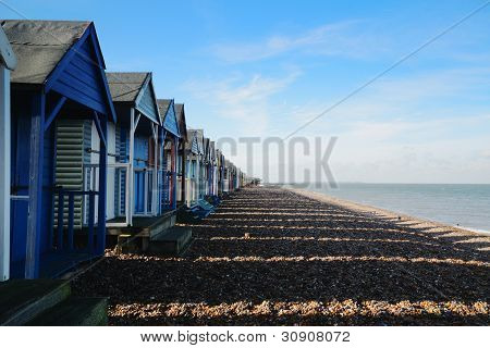 Beach Hut Shadows