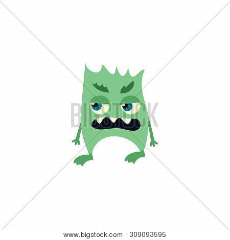 Cartoon Flat Monsters Icon. Colorful Kids Toy Cute Monster. Vector
