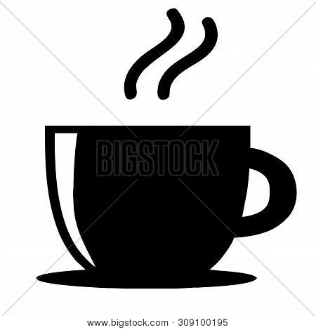Coffee Vector Logo Isolated Flat On White Background, Coffee Shop Logo Vector Illustration. Espresso