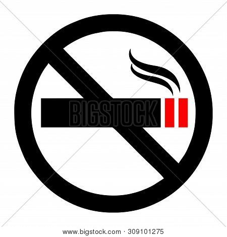 No Smoking Icon Isolated On White Background From Mall Collection. No Smoking Icon Trendy And Modern