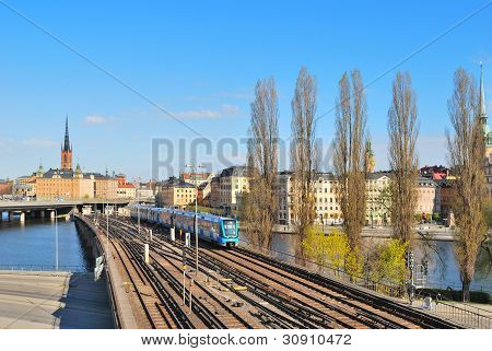 Stockholm. Subway Line Old Town - Slussen