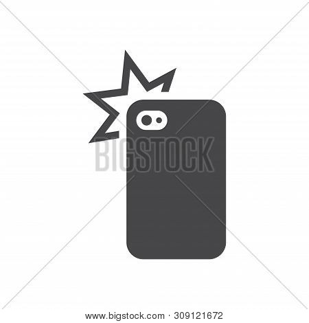 Cellphone Photo Camera Vector Icon On White Background. Cellphone Photo Camera Icon In Modern Design