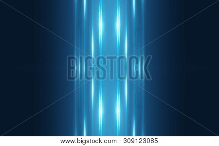 Dark Abstract Futuristic Background. Neon Lines Glow. Neon Lines, Shapes. Blue Glow
