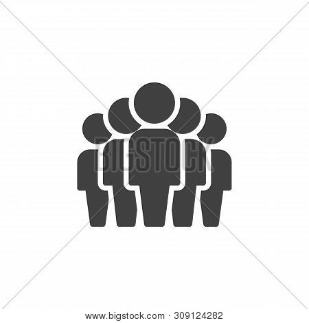 Team Group Vector Icon. Corporate Team Working Filled Flat Sign For Mobile Concept And Web Design. P