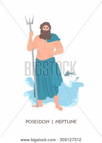 Poseidon Or Neptune - Olympian God Or Deity Of Sea And Seafare From Ancient Greek And Roman Religion