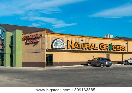 Grand Forks, Nd/usa - June 28, 2019: Vitamin Cottage Natural Grocers Retail Store Exterior And Trade