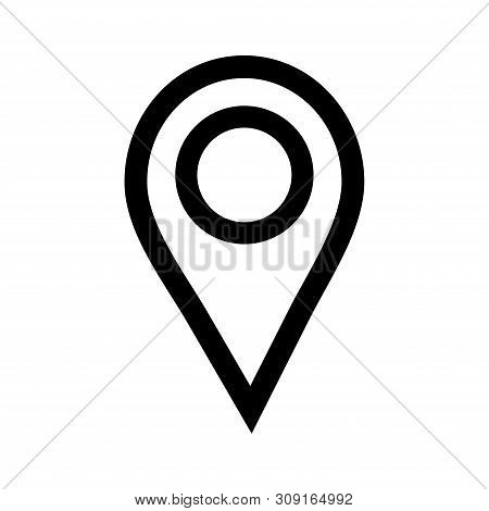 Location Pin Icon Vector On White Background. Map Pointe Icon, Navigation Icon, Location Pin Icon Mo