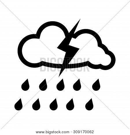 Rain Icon In Trendy Design Style. Rain Icon Isolated On White Background. Rain Vector Icon Simple An