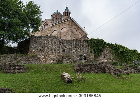 Patriarch Eastern Orthodox Church Inside Tsarevets Fortress. The Patriarchal Cathedral Of The Holy A