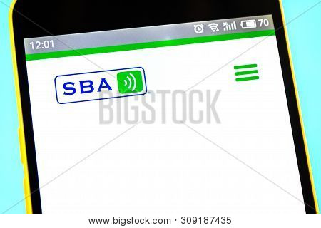 Berdyansk, Ukraine - 12 May 2019: Illustrative Editorial Of Sba Communications Website Homepage. Sba