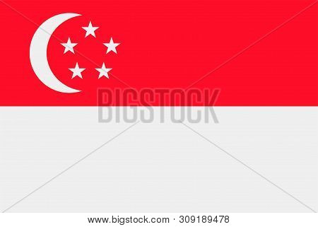 Flag Of Singapore. Sovereign State Flag Of Singapore