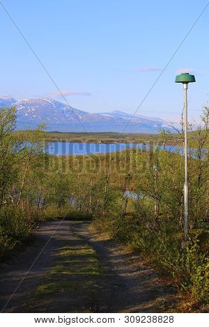 View On Abisko And The Tornetrask In Sweden