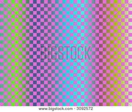 Op Art Fuchsia Checkerboard Over Gradient
