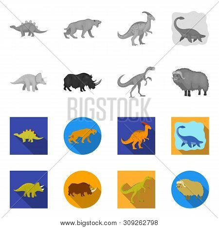 Vector Illustration Of Animal And Character Logo. Collection Of Animal And Ancient Stock Vector Illu
