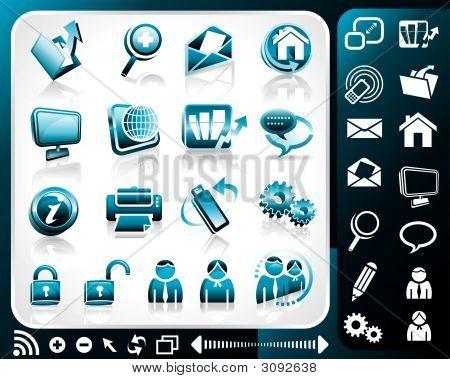 Icon Set Of Internet