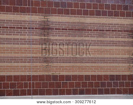 A Brick Texture Of Design With Stains From Old Gutters That Are Now Missing.