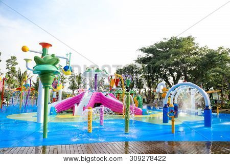 Hua Hin, Thailand - January 2018 : Vana Nava Waterpark Hua Hin In Wonderland Area At Hua Hin. Asia F