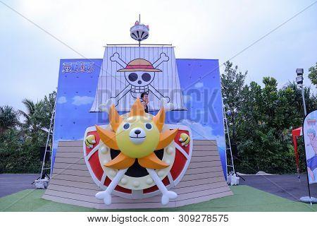 Hua Hin, Thailand - January 2018 : Vana Nava Waterpark Hua Hin At Hua Hin On Theme Of One Piece Carn