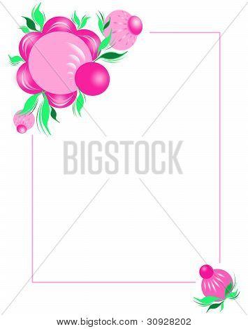 Flower Frame. A Gorodetsky List.