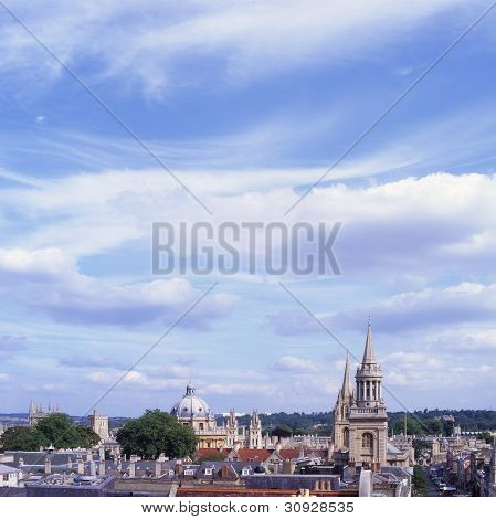 Oxford City Skyline. England