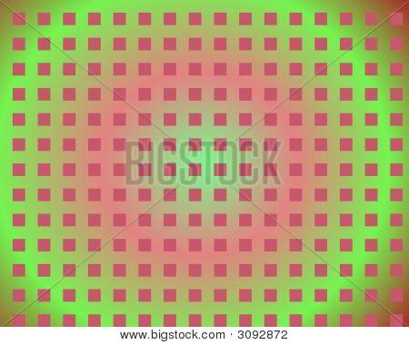 Op Art Magenta Squares Over Gradient Background
