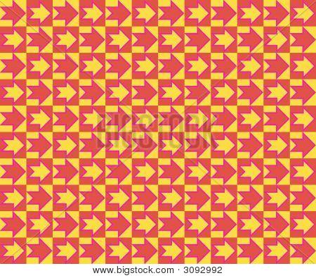 Pop Art School Of Arrows Red Yellow Fuchsia poster