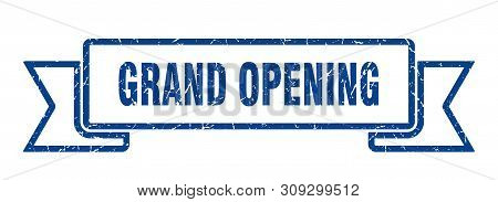 Grand Opening Grunge Ribbon. Grand Opening Sign. Grand Opening Banner