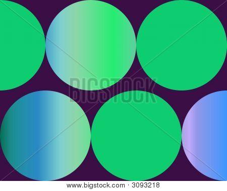 Op Art Gradient Circles Green Blue