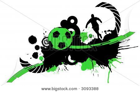 Abstract football creation (background web logo...) poster