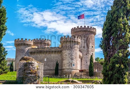 The Rocca Pia Castle Fortress In Tivoli - Italy During A Sunny Spring Day - A Landmark Near Rome In