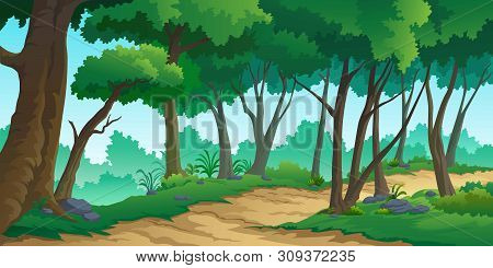Illustration Of A Tree And Graphic Of Jungle