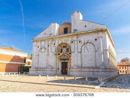 Tesoro Della Cattedrale Tempio Malatestiano Cathedral Catholic Church In Old Historical Touristic Ci