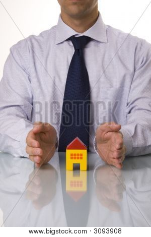 Real Estate Agent Showing Houses