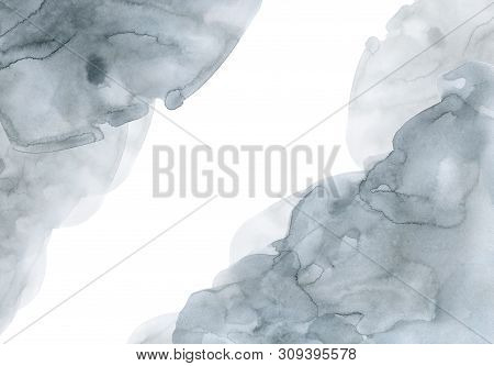 Gray  Blue  Watercolor Gradient Background Template For Design
