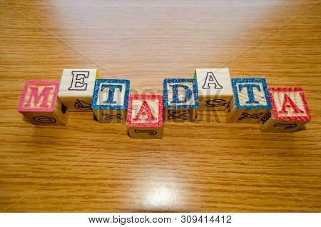 Educational Toy Cubes With Letters Organised To Display Word Metadata - Keywording And Search Engine